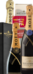 3x2 Flaschen Champagner Moet & Chandon Degustations Paket